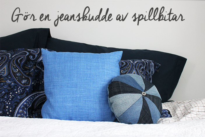 Diy jeans pillow Lina by thebay 1