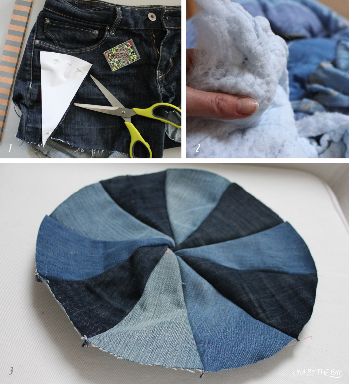 Diy jeans pillow Lina by thebay 2