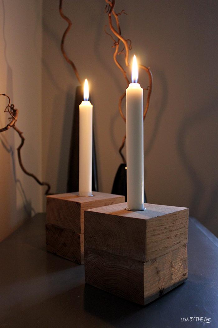 Ljusstake wood 3