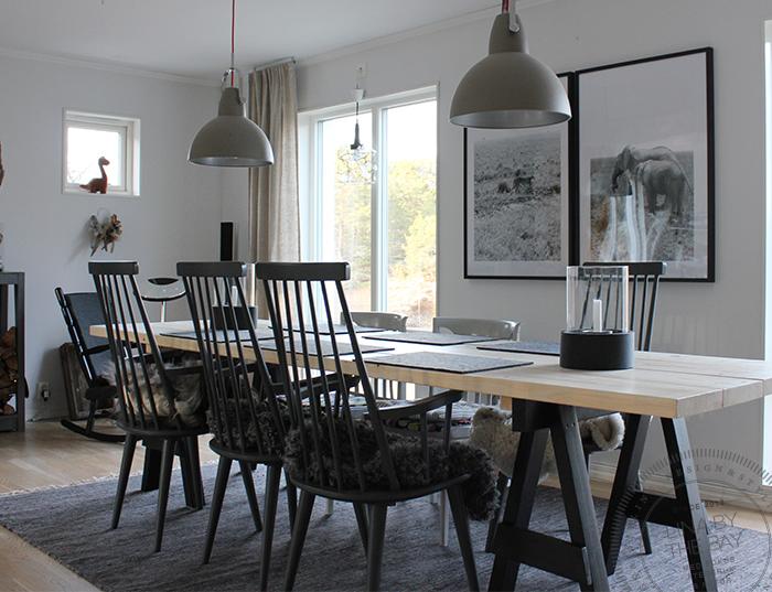 Nytt hemmagjort matbord
