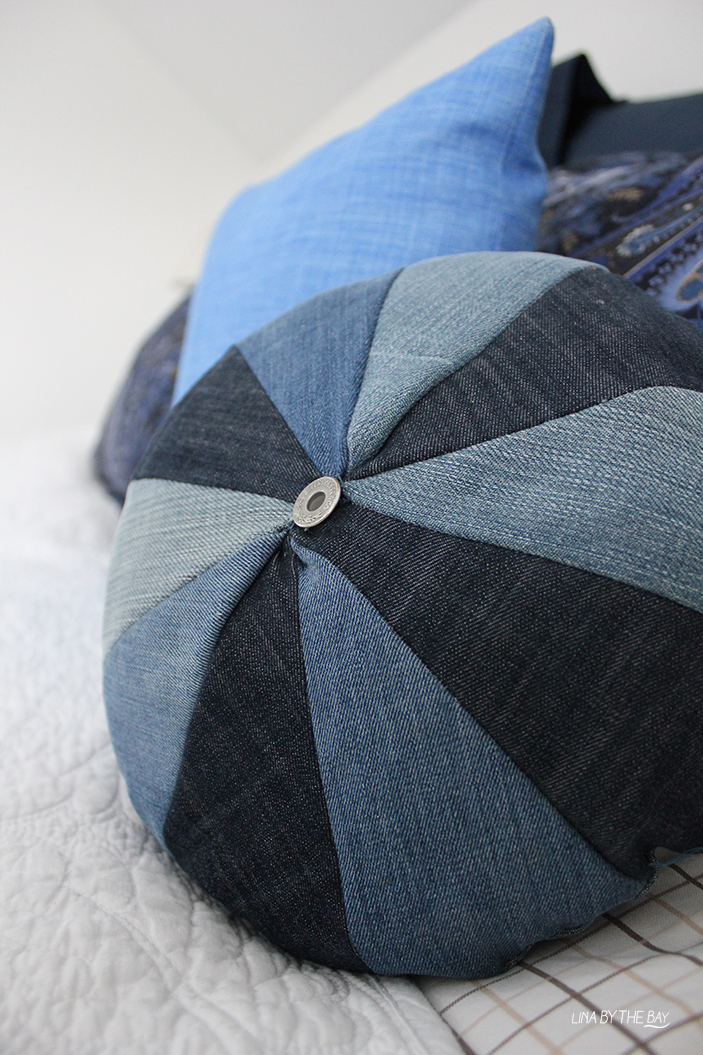 Diy jeans pillow Lina by thebay 6