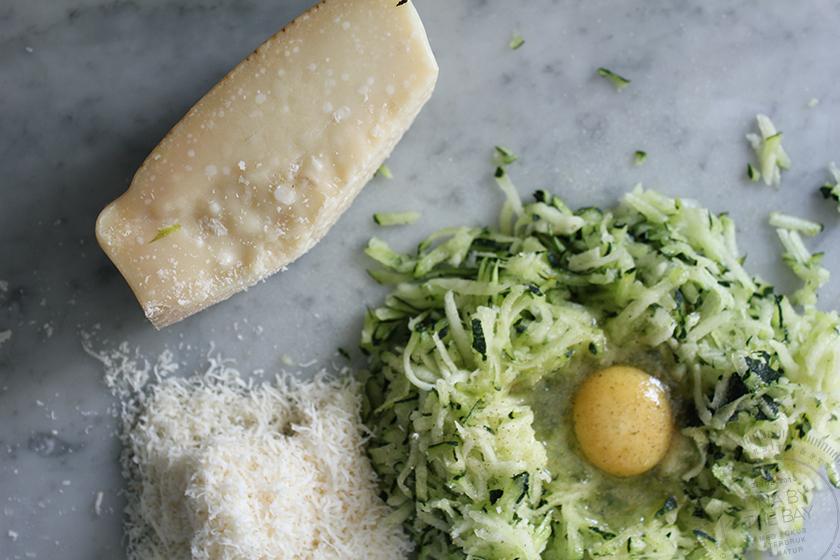 Parmesan- och Zucchinibiffar